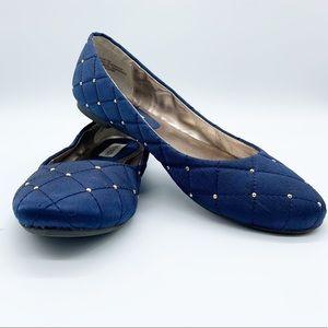 STEVE MADDEN Blue Ballet Flat Shoes